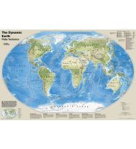 Poster und Wandkarten National Geographic Wall Map - The Dynamic Earth Plate Tectonics laminated National Geographic Society Maps