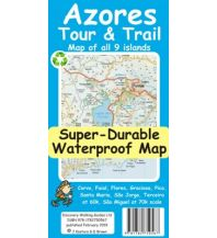 Discovery super-durable waterproof Map Azores/Azoren 1:60.000 Discovery Walking Guides Ltd.