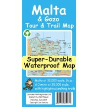 Discovery super-durable waterproof Map Malta & Gozo 1:32.000/1:20.000 Discovery Walking Guides Ltd.
