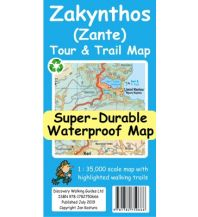 Discovery super-durable waterproof Map Zákynthos (Zante) 1:35.000 Discovery Walking Guides Ltd.