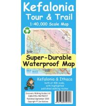 Discovery super-durable waterproof Map Kefalonia & Ithaca Tour & Trail 1:40.000 Discovery Walking Guides Ltd.