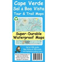 Discovery super-durable waterproof Map Cape Verde - Sal & Boa Vista 1:40.000 Discovery Walking Guides Ltd.