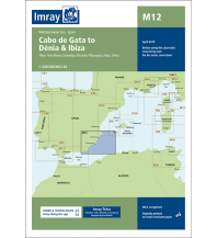 Seekarten Imray Seekarte Spanien - M12 Cabo de Gata to Dénia and Ibiza 1:500.000 Imray, Laurie, Norie & Wilson Ltd.