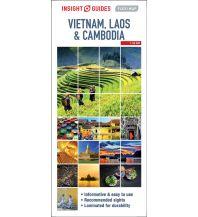 Straßenkarten Insight Flexi Map - Vietnam, Cambodia and Laos Apa Publications