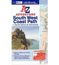 Wanderführer A-Z Adventure Atlas 1 Großbritannien - South West Coast Path 1 - North Devon & Somerset 1:25.000 A-Z from Collins