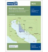 Seekarten Kroatien und Adria Imray Seekarte Kroatien M25, Rab to Šibenik 1:220.000 Imray, Laurie, Norie & Wilson Ltd.
