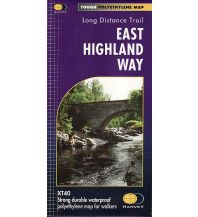 Wanderkarten Schottland Harvey Map XT40 Schottland - East Highland Way 1:40.000 Harvey Map