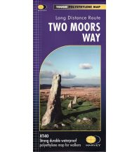 Wanderkarten Harvey Map Großbritannien - Two Moors Way 1:40.000 Harvey Map
