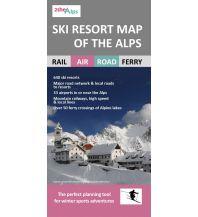 Skigebieteführer Ski Resort Map of the Alps 1:1.336.000 Craenen Produktion