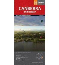Straßenkarten Australien - Ozeanien Hema City Handy Map Australien - Canberra & Region 1:20.000 / 1:850:000 Hema Maps