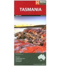 Straßenkarten Australien - Ozeanien Hema Maps Straßenkarte Tasmania 1:480.000 Hema Maps