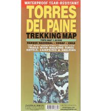 Wanderkarten Südamerika Zagier Urruty Trekking Map Torres del Paine 1:80.000 Zagier y Urruty Publicaciones