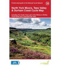 Radkarten Cycle Map 33 Großbritannien - North York Moors, Tees Valley & Durham Coast Cycle Map Sustrans