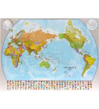 Poster und Wandkarten The World political Pacific-centred with Flags 1:30.000.000 Maps International