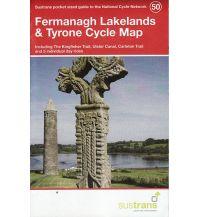 Radkarten Sustrans Cycle Map 50 Großbritannien - Fermanagh Lakelangds & Tyrone 1:110.000 Sustrans
