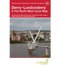 Radkarten Sustrans Cycle Map 51, Derry/Londonderry & The North West 1:110.000 Sustrans