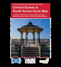 Radkarten Sustrans Cycle Map 7, Central Sussex & South Surrey 1:110.000 Sustrans