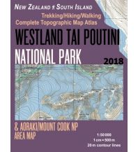 Wanderkarten Neuseeland Westland Tai Poutini National Park 1:50.000 Createspace