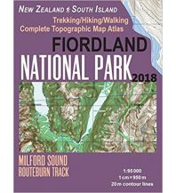 Wanderkarten Neuseeland Fiordland National Park 1:95.000 Createspace