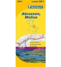 Straßenkarten Italien Michelin Regionalkarte 361 Italien, Abruzzen und Molise 1:200.000 Michelin