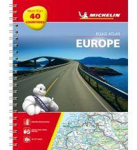 Reise- und Straßenatlanten Michelin Straßenatlas Europa mit Spiralbindung Michelin