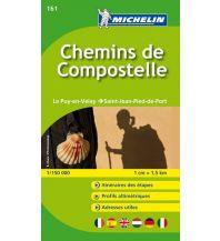 Wanderkarten Spanien Michelin Straßenkarte Zoom 161 Frankreich, Chemins de Compostelle 1:150.000 Michelin