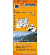 Straßenkarten Schweiz Michelin Regionalkarte 551, Schweiz Nord 1:200.000 Michelin