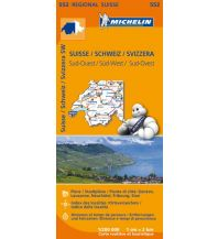 Straßenkarten Schweiz Michelin Regionalkarte 552, Schweiz Süd-West 1:200.000 Michelin