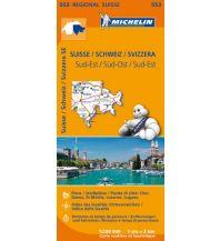 Straßenkarten Schweiz Michelin Regionalkarte 553, Schweiz Süd-Ost 1:200.000 Michelin