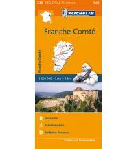 Straßenkarten Frankreich Michelin Straßenkarte Regional 520 Frankreich, Franche-Comte 1:200.000 Michelin