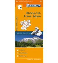 Straßenkarten Frankreich Michelin Straßenkarte Regional 523 Frankreich, Rhone-Tal, Französische Alpen 1:200.000 Michelin