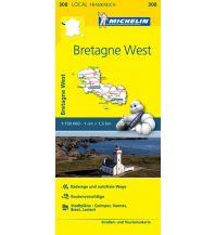 Straßenkarten Frankreich Michelin Straßenkarte Local 308 Frankreich, Bretagne West 1:150.000 Michelin