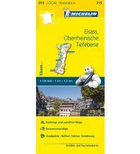 Straßenkarten Frankreich Michelin Straßenkarte Local 315 Frankreich, Elsass, Oberrheinische Tiefebene 1:150.000 Michelin