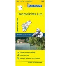 Straßenkarten Frankreich Michelin Straßenkarte Local 321 Frankreich, Französisches Jura 1:150.000 Michelin