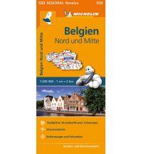 Straßenkarten Belgien Michelin Straßenkarte Belgien 533, Nord und Mitte 1.200.000 Michelin