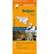 Straßenkarten Belgien Michelin Frankreich Straßenkarte 534, Belgien Süd 1:200.000 Michelin