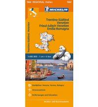 Straßenkarten Italien Regionalkarte 562, Trentino-Südtirol, Venetien, Friaul-Julisch Venetien, Emilia-Romagna 1:400.000 Michelin
