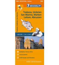 Straßenkarten Italien Michelin-Straßenkarte 563, Toskana, Umbrien, San Marino, Marken, Latium, Abruzzen 1:400.000 Michelin