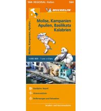 Straßenkarten Italien Regionalkarte 564, Molise, Kampanien, Apulien, Basilikata, Kalabrien 1:400.000 Michelin