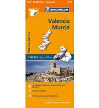 Straßenkarten Spanien Michelin-Straßenkarte 577, Valencia, Murcia 1:400.000 Michelin