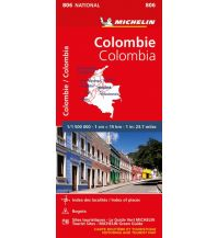 Straßenkarten Michelin France Map 806 - Colombie Colombia Kolumbien Michelin france