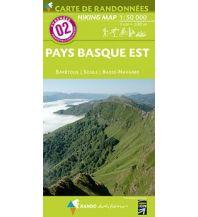 Wanderkarten Pyrenäen Carte de Randonnees 2 Pyrenäen - Pays Basque Est/Baskenland Ost 1:50.000 Rando Editions