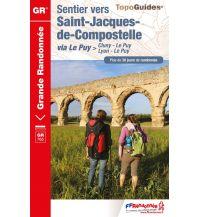 Weitwandern FFRP Topo Guide GR 765, Sentier vers St-Jacques-de-Compostelle via Le Puy Federation Francaise de la Randonnee