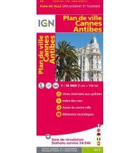 Stadtpläne IGN Stadtplan Frankreich - Cannes Antibes 1:13.000 Institut Geographique National
