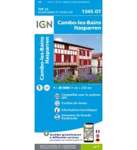 Wanderkarten Pyrenäen IGN Carte 1345 OT, Cambo-les-Bains, Hasparren 1:25.000 Institut Geographique National