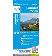 Wanderkarten Pyrenäen IGN Carte 1647 ET, Lourdes 1:25.000 Institut Geographique National