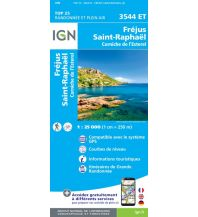 Wanderkarten Frankreich IGN Carte 3544 ET, Fréjus, Saint-Raphaël 1:25.000 Institut Geographique National