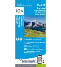 Wanderkarten Pyrenäen IGN Carte 1546 ET, Laruns, Gourette 1:25.000 Institut Geographique National
