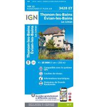 Wanderkarten Frankreich IGN Carte 3428 ET, Thonon-les-Bains, Evian-les-Bains 1:25.000 Institut Geographique National