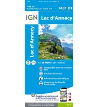 Wanderkarten Frankreich IGN Carte 3431 OT, Lac d'Annecy 1:25.000 Institut Geographique National